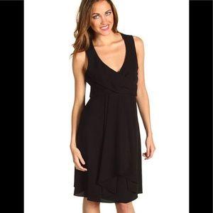 Vince Camuto Black Draped Dress NWOT